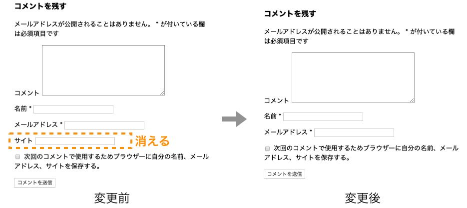 ユーザ情報入力フォーム変更後の例