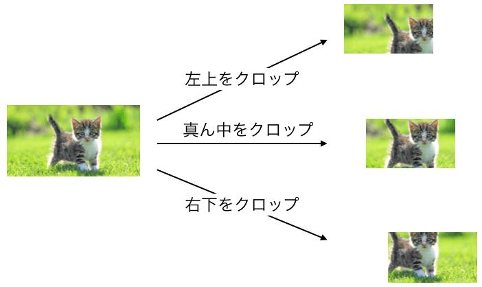 クロップの説明図