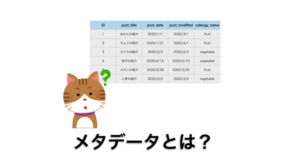 メタデータ解説ページのアイキャッチ